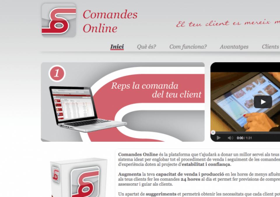 web comandes online